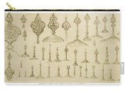Ornamental Knobs Shaped As Domes Carry-all Pouch