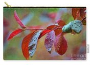 Ornamental Plum Tree Leaves With Raindrops - Digital Paint Carry-all Pouch