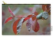 Ornamental Plum Tree Leaves With Raindrops Carry-all Pouch
