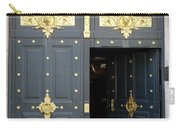 Ornate Door On Champs Elysees In Paris France Carry-all Pouch