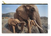Orphans Malaika With Nyiro Tsavo Kenya Carry-all Pouch
