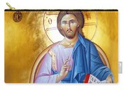 Orthodox Icon Of Jesus In Blue Carry-all Pouch