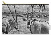 Oryx Black And White Carry-all Pouch