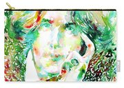Oscar Wilde Watercolor Portrait.2 Carry-all Pouch by Fabrizio Cassetta
