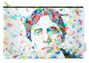 Oscar Wilde With Cigar - Watercolor Portrait Carry-all Pouch by Fabrizio Cassetta