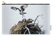 Osprey In Flight Over Nest Carry-all Pouch