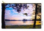Osprey Leaving Perch Sundown Lake Carry-all Pouch