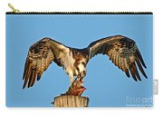 Osprey With Spotted Bass Carry-all Pouch