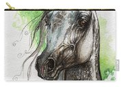 Ostragon Polish Arabian Horse Painting   Carry-all Pouch