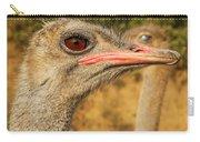 Ostrich Closeup Carry-all Pouch by Jess Kraft