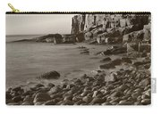 Otter Cliffs Black And White Carry-all Pouch