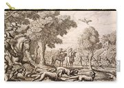 Otter Hunting By A River, Engraved Carry-all Pouch