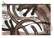Otter With Eel, 2013 Woodcut Carry-all Pouch
