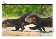 Otters Crossing The Road  Carry-all Pouch