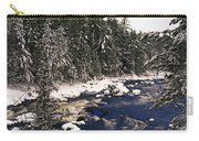 Ouareau River And Snow Covered Carry-all Pouch