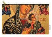 Our Lady Of Perpetual Help Icon II Carry-all Pouch by Ryszard Sleczka