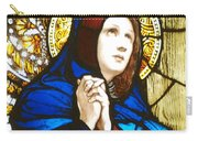 Our Lady Of Sorrows In Stained Glass Carry-all Pouch