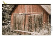 Out By The Woodshed Carry-all Pouch by Edward Fielding