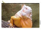 Out Of Africa Orange Lizard 1 Carry-all Pouch