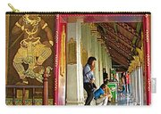 Outer Hall In Thai-khmer Pagoda At Grand Palace Of Thailand Carry-all Pouch