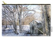 Outhouse In Winter Carry-all Pouch