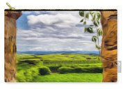 Outside The Fortress Wall Carry-all Pouch by Jeff Kolker