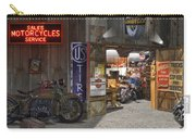 Outside The Motorcycle Shop Carry-all Pouch