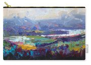 Overlook Abstract Landscape Carry-all Pouch by Talya Johnson