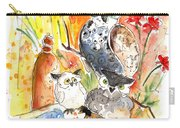 Owl Family In Velez Rubio Carry-all Pouch