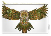 Owl Yellow Carry-all Pouch