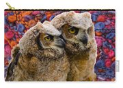 Owlets In Color Carry-all Pouch