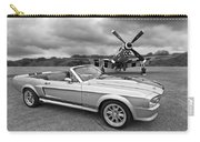 P51 Meets Eleanor In Black And White Carry-all Pouch