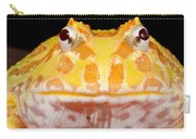 Pac Man Frog Ceratophrys On A Rock Carry-all Pouch