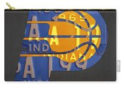 Pacers Basketball Team Logo Vintage Recycled Indiana License Plate Art Carry-all Pouch