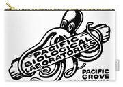 Pacific Biological Laboratories Of Pacific Grove Circa 1930 Carry-all Pouch