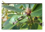 Pacific Chorus Frog On A Rhodo  Carry-all Pouch