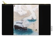 Pacific Dream Crab Fishing Boat Nautical Chart Art Carry-all Pouch