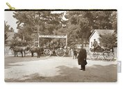 Pacific Grove Retreat Gate On Lighthouse At Grand Aves  With  O. J. Johnson Circa 1880 Carry-all Pouch
