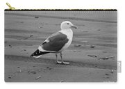 Pacific Seagull In Black And White Carry-all Pouch
