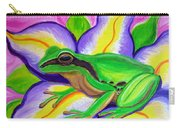 Pacific Tree Frog And Flower Carry-all Pouch
