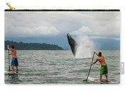 Paddle Boarders And Humpback Whale Carry-all Pouch