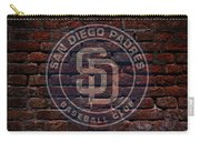 Padres Baseball Graffiti On Brick  Carry-all Pouch by Movie Poster Prints