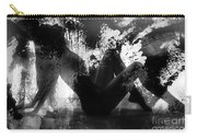 Paint Over Nude Silhouette Carry-all Pouch