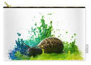 Paint Sculpture And Snail 4 Carry-all Pouch