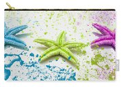 Paint Spattered Star Fish Carry-all Pouch