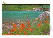 Paintbrush By Bow River In Banff Np-ab Carry-all Pouch