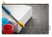 Paintbrush On Canvas Carry-all Pouch