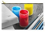 Paintbrushes With Canvas Carry-all Pouch