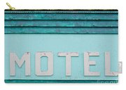 Painted Blue-green Historic Motel Facade Siding Carry-all Pouch
