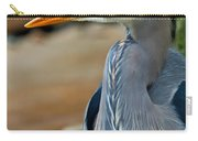 Painted Blue Heron Carry-all Pouch